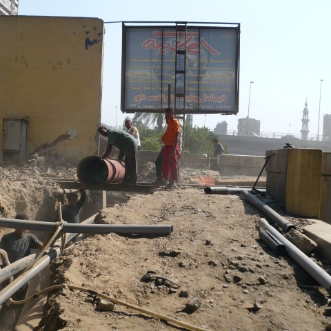 Diversion of existing Telecom Cable Route in Marioteya Area